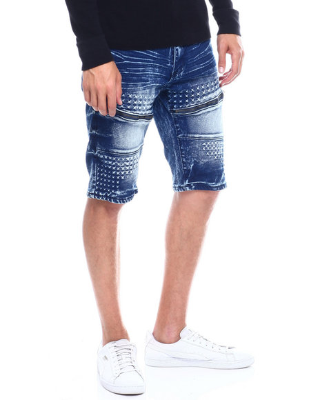 Buyers Picks - SPIKE DETAIL SHORT WITH ZIPPERS