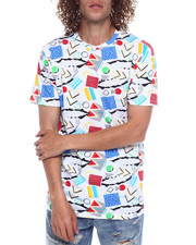 Spring-Summer-M - Thunderbolt and Geo Pattern Tee-2352547