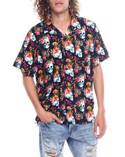 Spring-Summer-M - FLORAL SKULL KNIT BUTTON DOWN-2352621