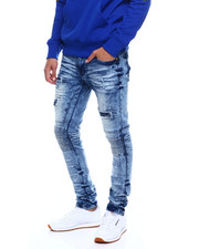 Jeans & Pants - DISTRESSED CUT AND SEW STRETCH MOTO JEAN-2352850