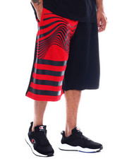 Akademiks - Waves Tribal Tiger French Terry Short (B&T)-2353033