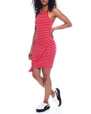Women - Halter NK Stripe Envelope Front Dress-2354206