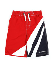 Boys - Color Blocked Swim Trunks (8-20)-2352267