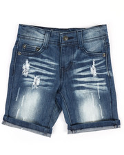 Boys - Rip & Repair Denim Shorts (2T-4T)-2351416