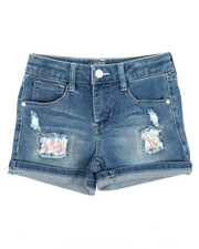 Girls - Shorts W/Sequin Backed Rips (7-16)-2353387
