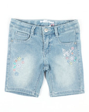 Girls - Bermuda Shorts W/Butterfly Embroidery (4-6X)-2353207