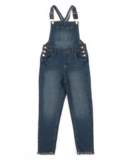 Overalls & Jumpers - Overalls W/Frayed Cuffs (7-16)-2353212