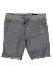 Shorts - Twill Shorts W/ Raw Edge Hem (2T-4T)-2351396