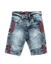 Boys - Biker Denim Shorts w/ Taping (4-7)-2353063