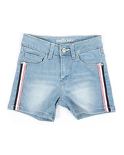 Girls - Denim Shorts W/Metallic Side Taping (7-16)-2353332