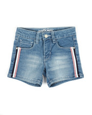 Girls - Denim Shorts W/Metallic Side Taping (4-6X)-2353307