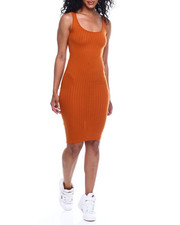 Women - Rib Scoop Neck Tank Dress-2354144