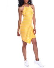 Women - Halter NK Stripe Envelope Front Dress-2354228