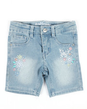 Girls - Bermuda Shorts W/Butterfly Embroidery (2T-4T)-2353196