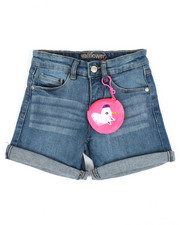 Girls - Shorts W/Rolled Cuff & Change Purse Gift (7-16)-2353398