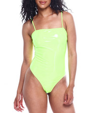 Fashion Lab - Spagh Strap Vinyl Bodysuit-2354073