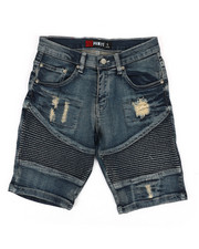 Boys - Moto Denim Shorts (8-20)-2353084