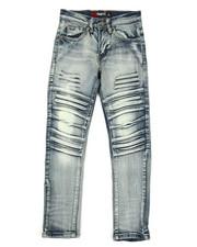 Boys - 3D Embossed Biker Denim Jeans (8-20)-2353072