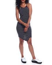 Women - Halter NK Stripe Envelope Front Dress-2354223