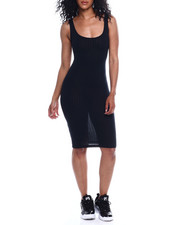 Fashion Lab - Rib Scoop Neck Tank Dress-2354135
