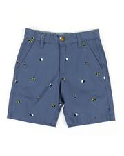 Boys - Printed Cotton Twill Shorts W/ Chambray Inside Waistband (4-7)-2351219