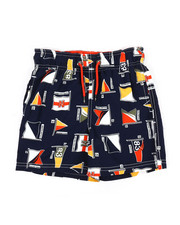 Swimwear - Printed Swim Trunks W/ Drawcords (4-7)-2352247