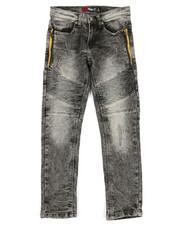 Boys - Biker Denim Jeans w/ Tape Zipper Detail (8-20)-2353056