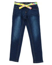 Girls - Denim Jeans w/ Sash Belt (7-16)-2353225