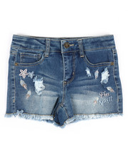 Girls - Denim Shorts W/Free Spirit Embroidery (7-16)-2353299