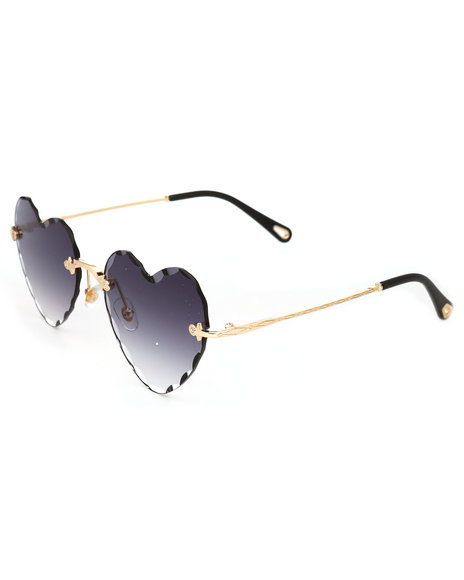 Fashion Lab - Heart Shaped Gradient Sunglasses
