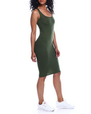 Women - Rib Scoop Neck Tank Dress-2354126
