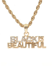 "Accessories - Black Is Beautiful 24"" Chain Necklace-2348565"