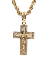 "Men - Cross 20"" Chain Necklace-2348557"
