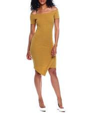 Fashion Lab - Stripe Off Shoulder Envelope Hem Dress-2354055