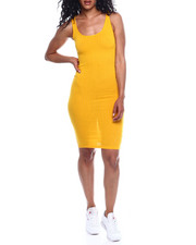 Women - Rib Scoop Neck Tank Dress-2354077