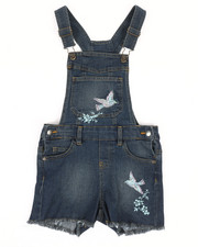 Overalls & Jumpers - Embroidered Shortalls (7-16)-2353216
