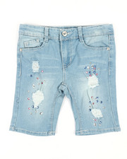 Girls - Bermuda Shorts W/Rhinestones & Rips (7-16)-2353200