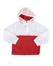 Outerwear - Pullover Color Block Rain Shell Anorak Jacket (8-18)-2351121