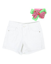 La Galleria - Twill Shorts W/ Bow Gift (7-16)-2353421
