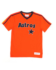 Mitchell & Ness - Overtime Win V-Neck Houston Astros T-Shirt (8-20)-2351461