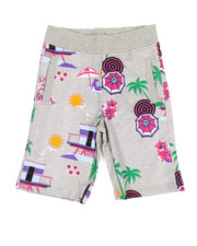 Born Fly - All Over Printed Loopback Shorts (8-20)-2353513