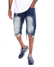 SMOKE RISE - RIP AND REPAIR DENIM SHORT-2353567