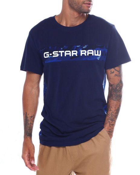 G-STAR - G-star Logo Stripe Tee