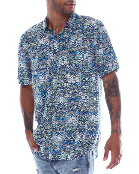 Union Bay - Bradley 80s Blue Line  Rayon SS  Shirt