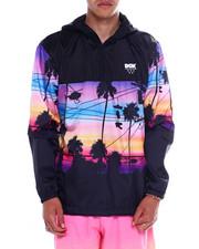 Outerwear - Vibes Custom Hooded Windbreaker Jacket-2355597