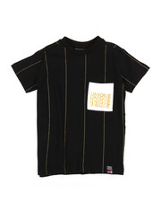 Phat Farm - Printed Foil Stripe Crew Neck T-Shirt (4-7)-2353142