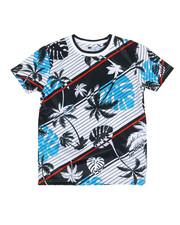 Southpole - Multi Stripe Hawaiian Poly T-Shirt (8-20)-2353857