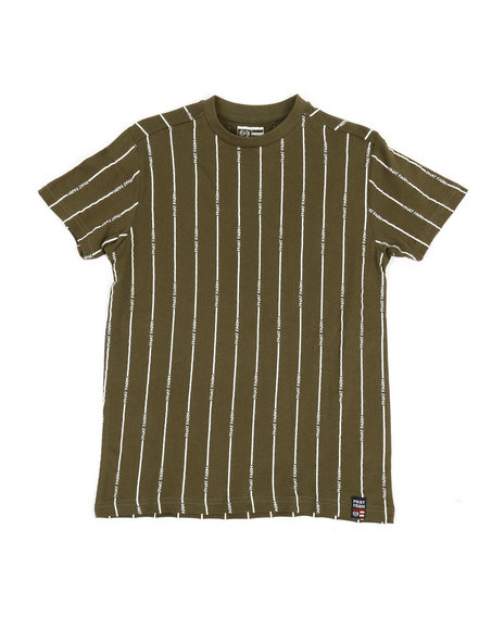 Phat Farm - Printed Stripe Crew Neck T-Shirt (8-20)