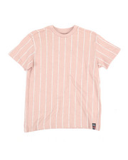 Tops - Printed Stripe Crew Neck T-Shirt (8-20)-2353117