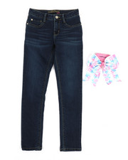 Jeans - Jeans W/Hair Bow Gift (7-16)-2353285